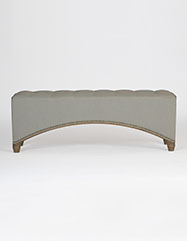 Marshall Curved Tufted Bench