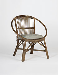 Mercury Vintage-Style Rattan Chair
