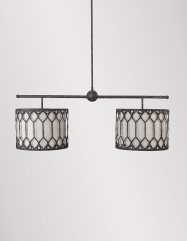 Collins Double Drum Shade Chandelier