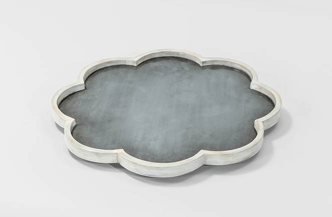 faux horn accent tray