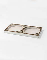 Leo Vellum Tray - Set of 2