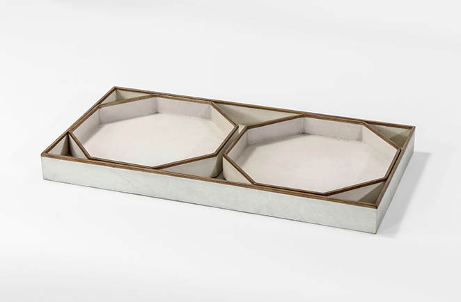 transitional vellum accessory tray