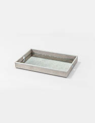 Flora Faux Shagreen Serving Tray - Set of 2