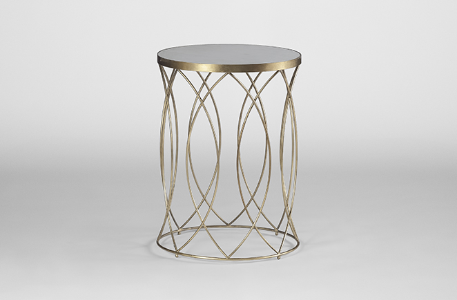 Elegant White Marble Top Side Table | Nicole Table   Gabby