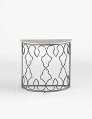 Randolph Demilune Accent Table