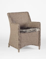 Smith Wicker Arm Chair