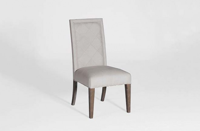 Transitional Linen Dining Chair