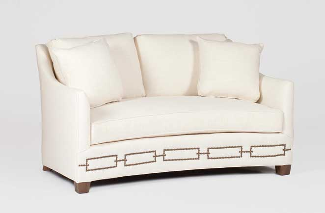 Transitional Curved Front Settee