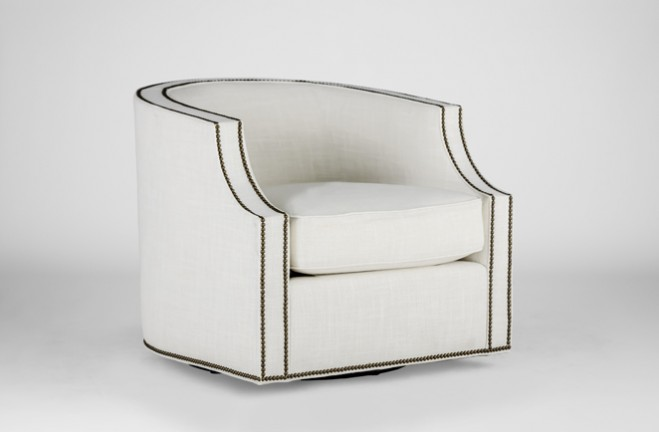 modern swivel club chair | willow by gabby