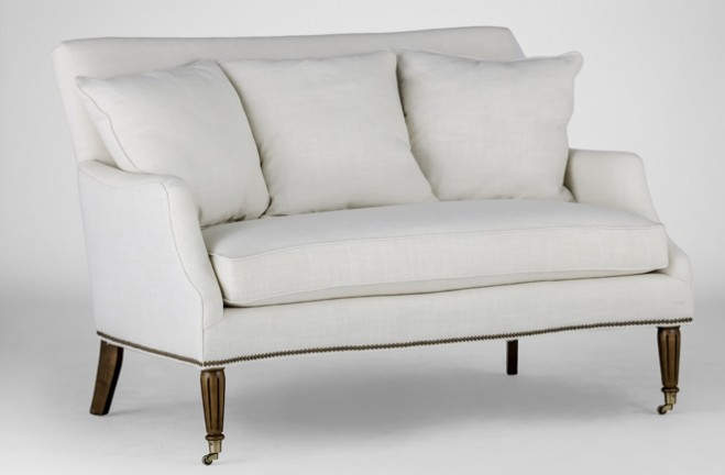 antique style settee | Dahlia loveseat | Gabby Custom Tailored