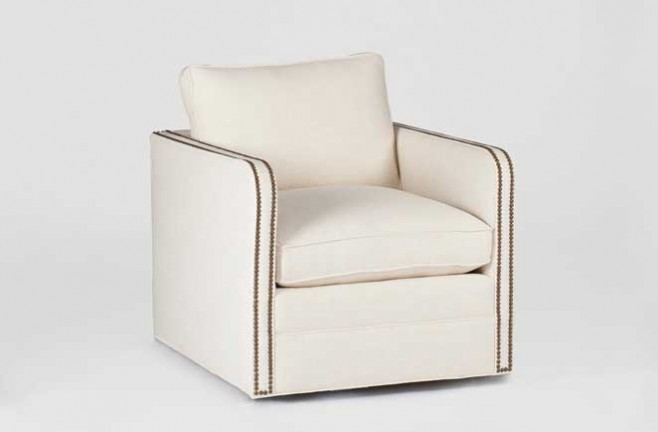 Transitional Swivel Chair