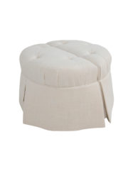 Jae Round Split Ottoman | Custom Tailored