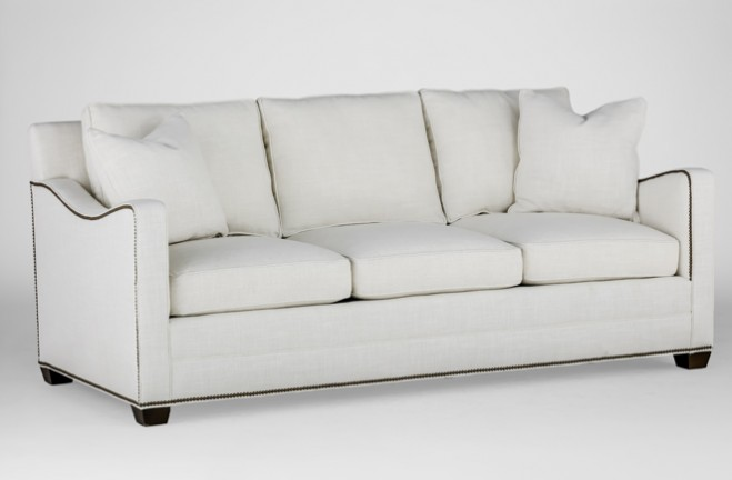 Sofa With Scalloped Arm Transitional Sofa Porter By Gabby