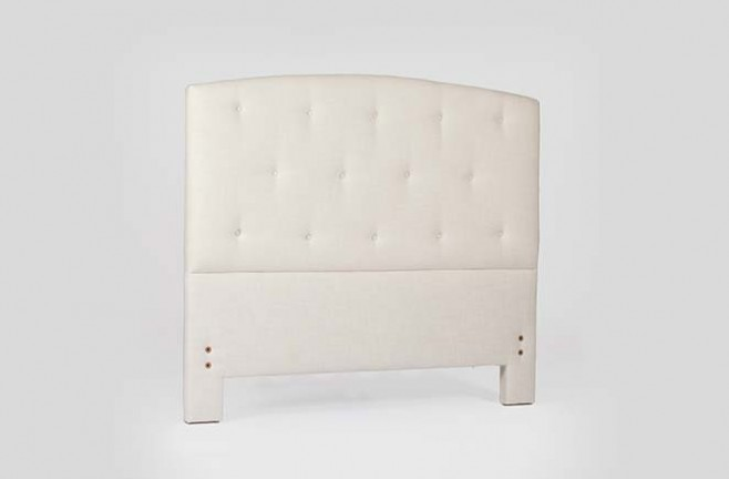 Transitional Tufted Camelback Headboard