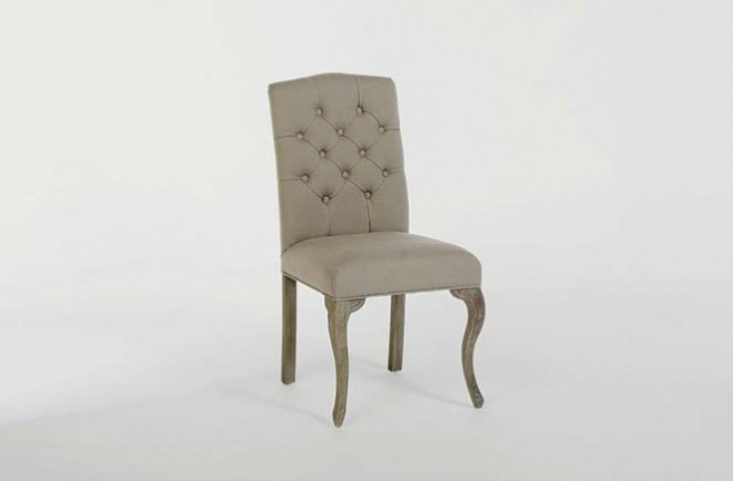 Tufted Neutral Dining Chair