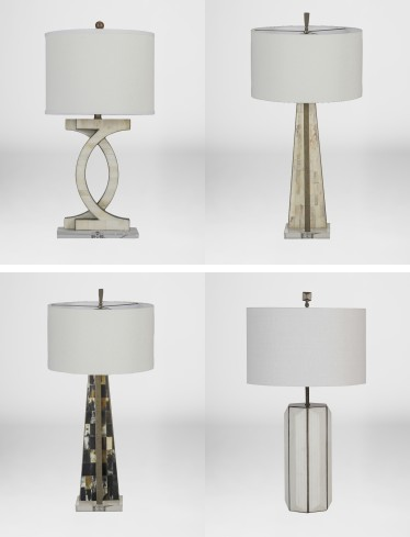 Gabby lamps with faux horn and bone