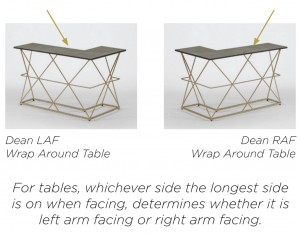 Wrap Around Sofa Table | Black And Gold Metal | Dean   Gabby