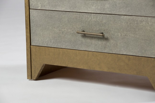 Lane Chest Faux Shagreen Chest Of Drawers Detail ...