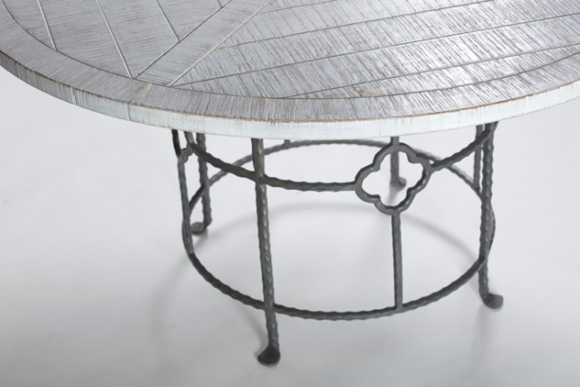 Wood And Iron Round Dining Table King Table Gabby