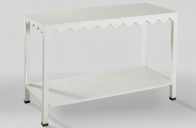 white and gold console table | Eleanor - Gabby