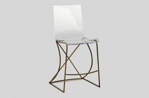 Transparent acrylic counter stool | Johnson by Gabby