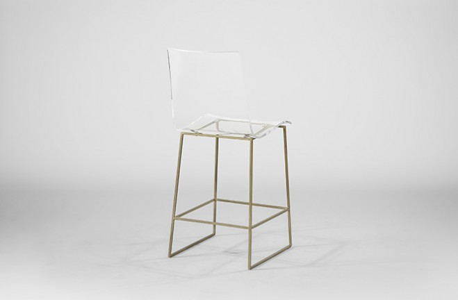Clear Acrylic Counter Stool Lucite And Gold King Gabby
