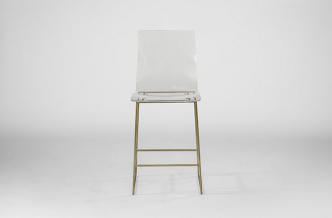 Counter Height Acrylic Stools : Clear Acrylic Counter Stool Lucite and Gold King - Gabby