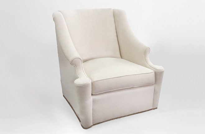 custom swivel club chair