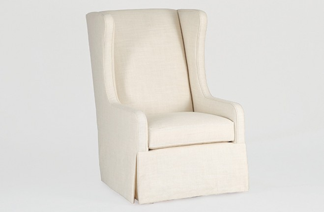 custom wing chair swivel