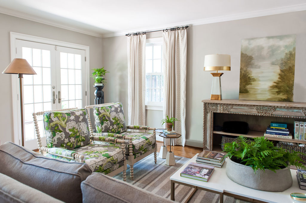 Southern style inspired living room