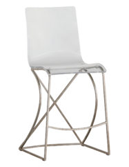 Johnson Counter Stool (Silver)