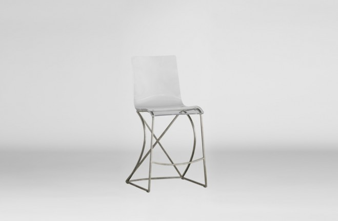 """Johnson 24.75"""" Counter Height Stool - Silver"""
