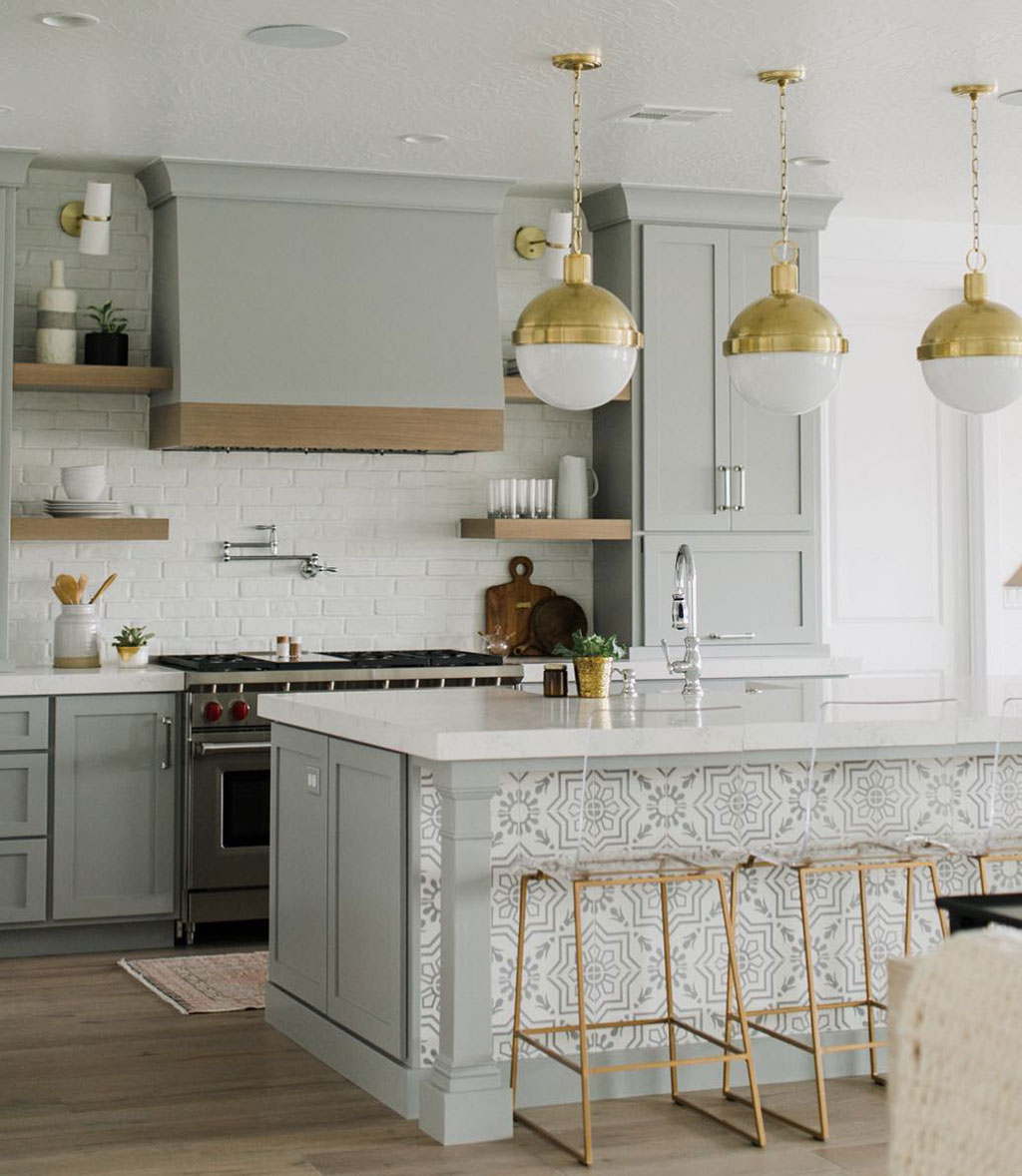 Clean Kitchen Design with Gabby King Barstools