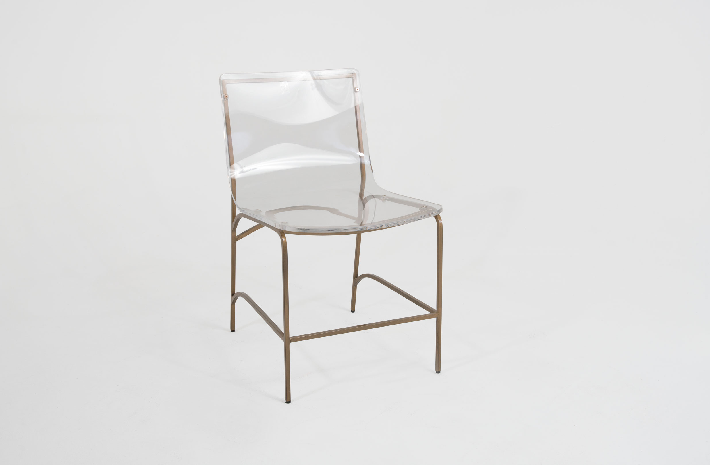 Gold And Lucite Dining Chair Penelope By Gabby