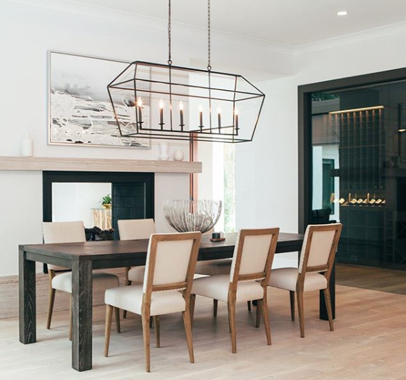 Transitional Dining Tables To Fit Every, Transitional Dining Room