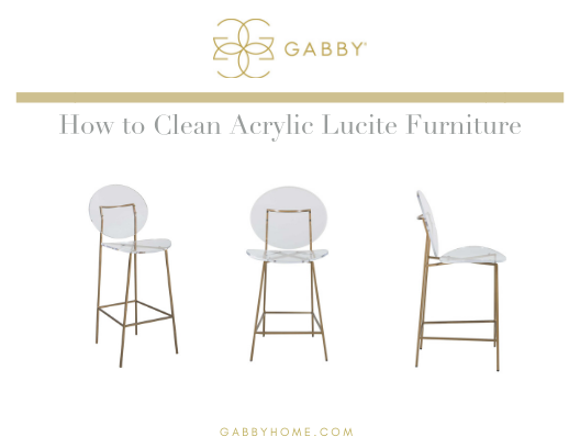 How To Clean Acrylic Lucite Furniture | Gabby