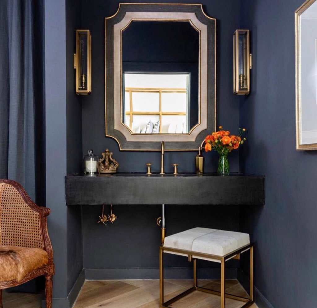 powder bathroom mirror ideas