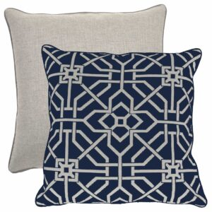 Indigo With Linen Dove Backing And Dove Welt