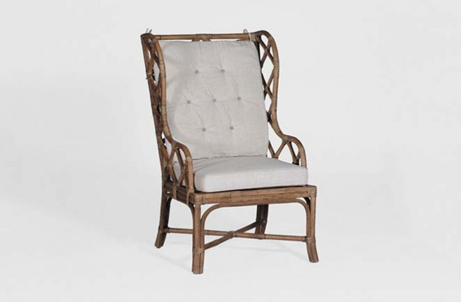 Antique Transitional Rattan Chair