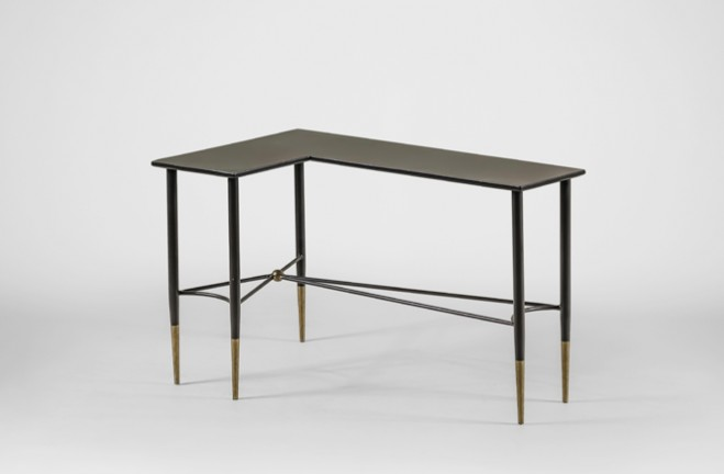 Collier Wrap Around Table | black and gold side table