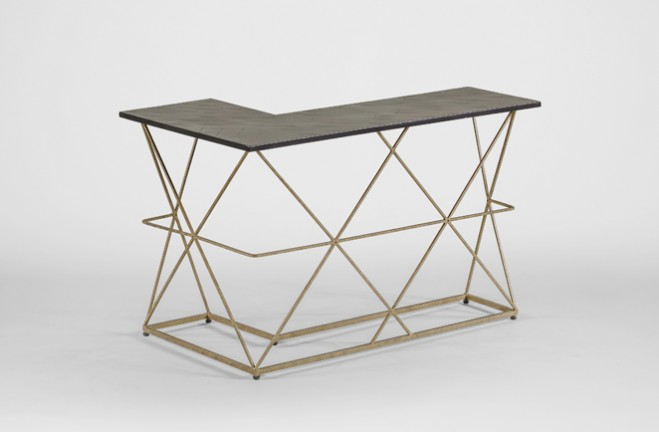 Dean gold and black Wrap Around Table - Gabby