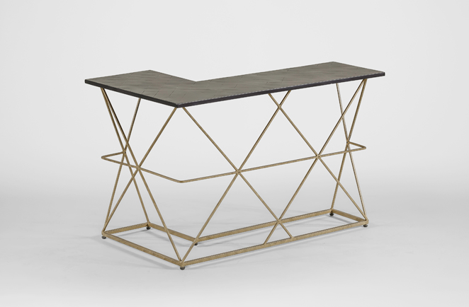 Dean Gold And Black Wrap Around Table Gabby