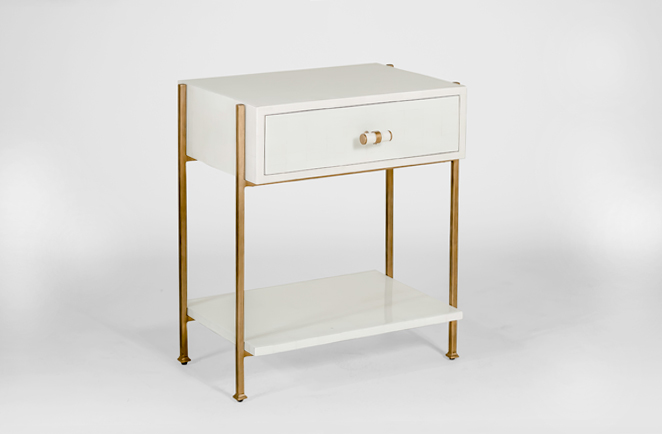 Jolene Gold And White Side Table Gabby