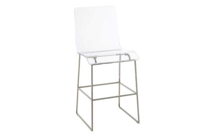 """King 24.75"""" Counter Height Stool - Silver"""