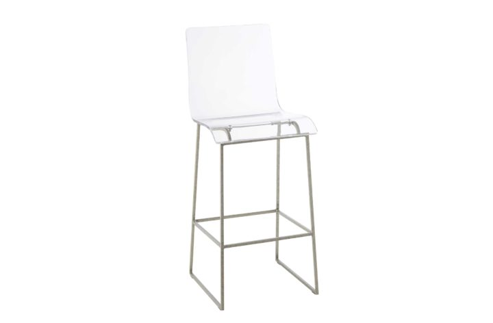 """King 30.25"""" Bar Height Stool - Silver"""
