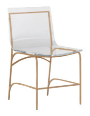 Penelope Dining Chair: Gold
