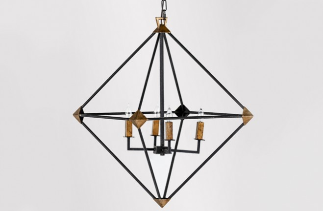 Black Metal Frame Chandelier Marceline By Gabby
