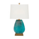 green glass table lamp | Harris Table Lamp | Gabby