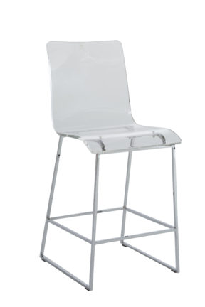 "King 24.75"" Counter Height Stool - Chrome"