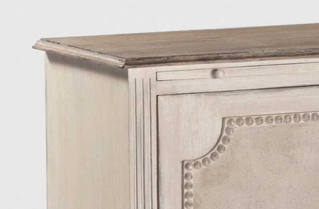 Antique French Reproduction Furniture Landry Side Table Detail ...